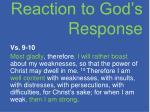 reaction to god s response1