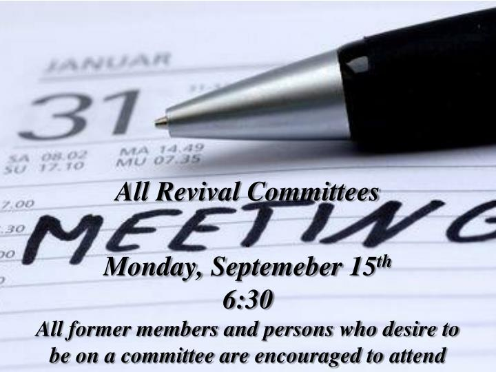 All Revival Committees