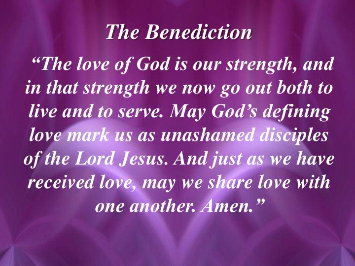 The Benediction