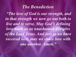 the benediction