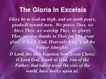 the gloria in excelsis