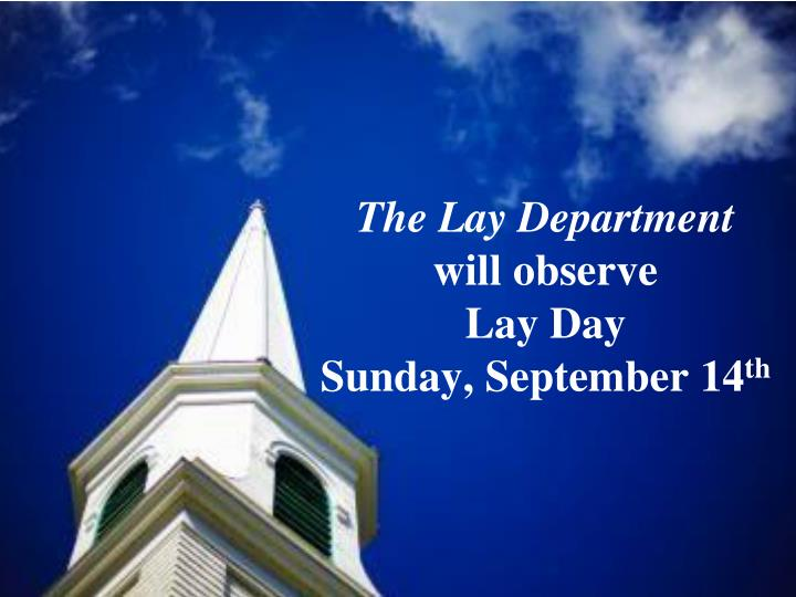 The Lay Department