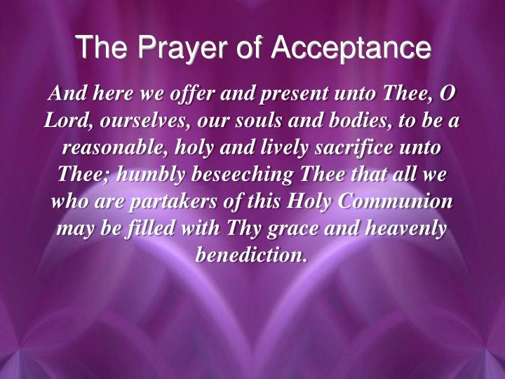 The Prayer of Acceptance