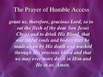 the prayer of humble access1