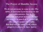 the prayer of humble access2