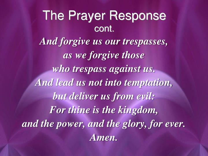 The Prayer Response
