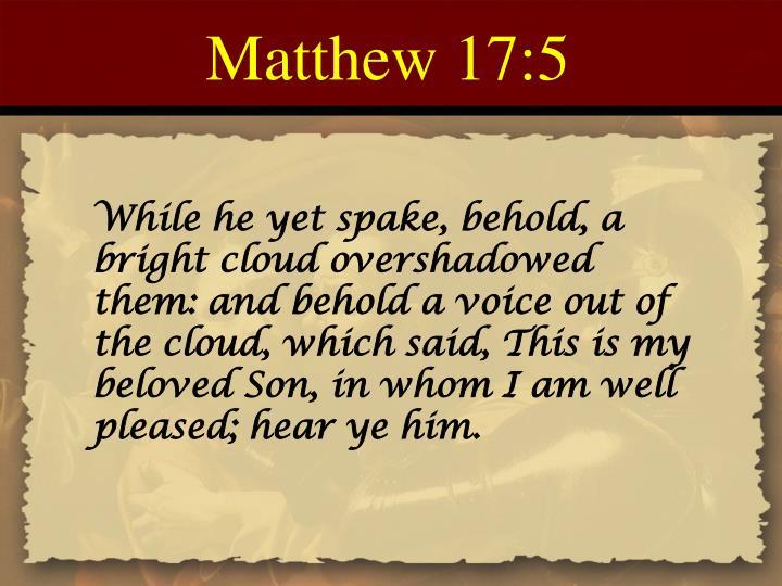 Matthew 17:5