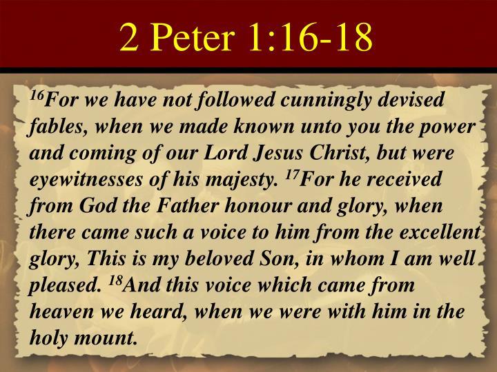 2 Peter 1:16-18