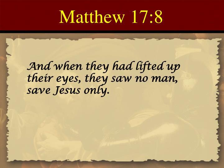 Matthew 17:8