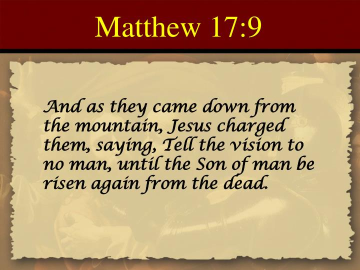 Matthew 17:9