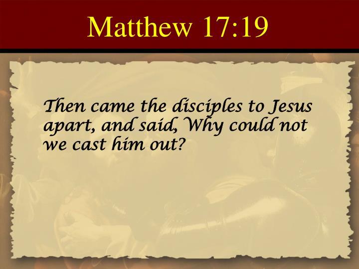 Matthew 17:19