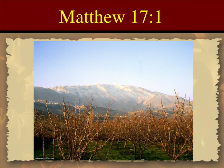 Matthew 17:1