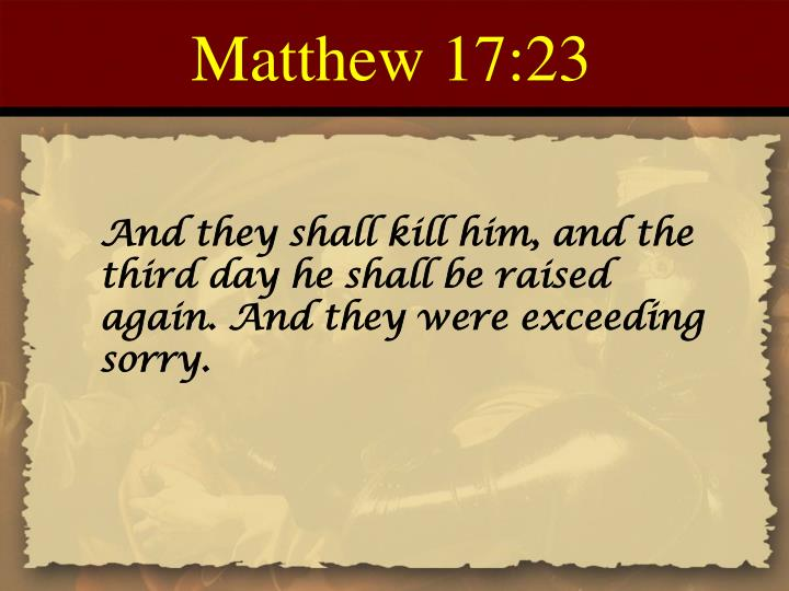 Matthew 17:23