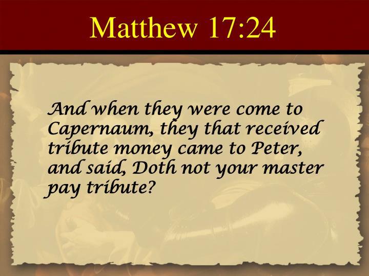 Matthew 17:24