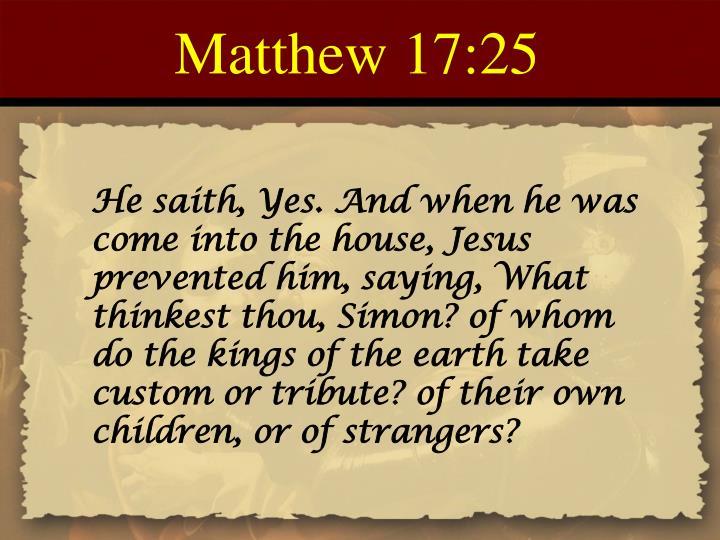 Matthew 17:25