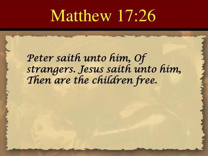 Matthew 17:26