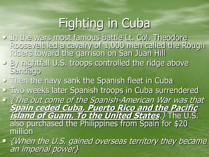 Fighting in Cuba