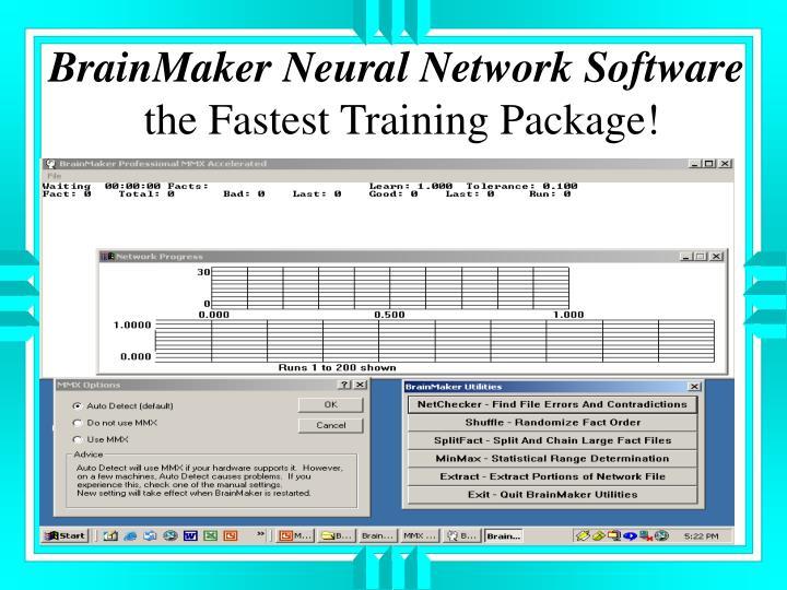 BrainMaker Neural Network Software