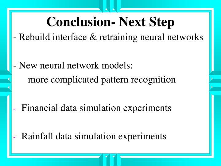 Conclusion- Next Step