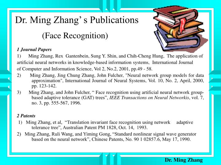 Dr. Ming Zhang' s Publications