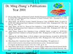 dr ming zhang s publications year 2001