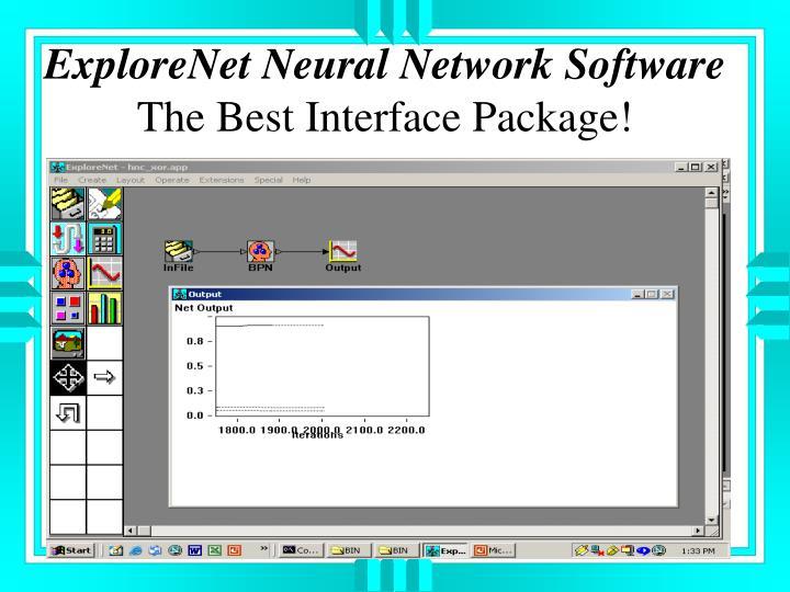 ExploreNet Neural Network Software