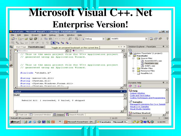 Microsoft Visual C++. Net