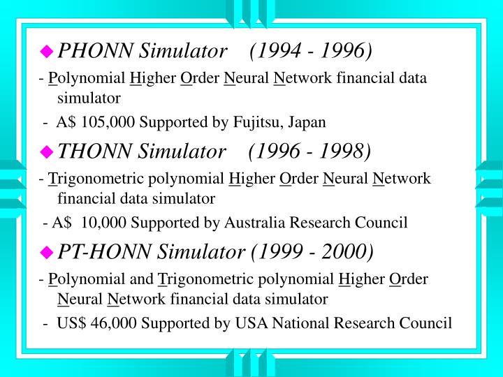 PHONN Simulator    (1994 - 1996)