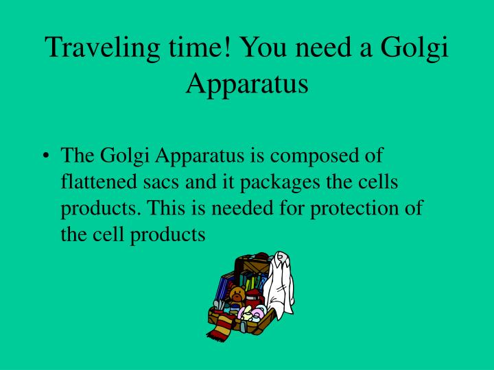 Traveling time! You need a Golgi Apparatus