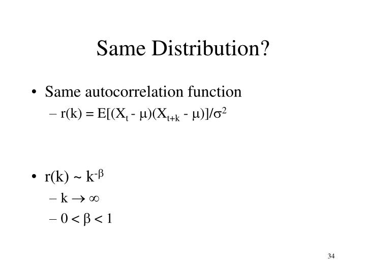 Same Distribution?