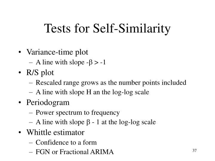 Tests for Self-Similarity