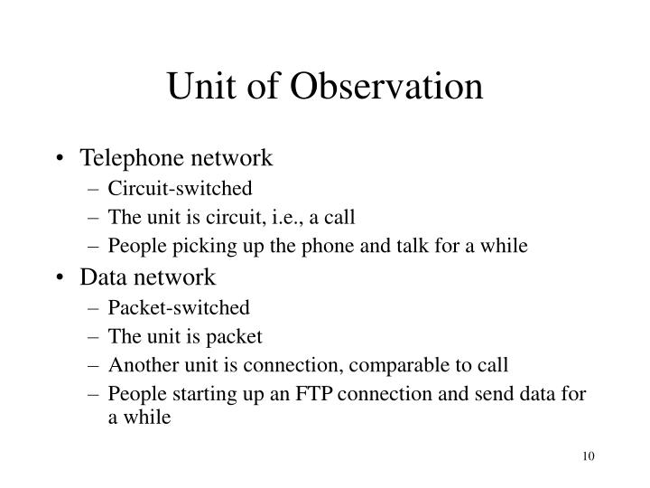 Unit of Observation