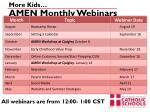 amen monthly webinars