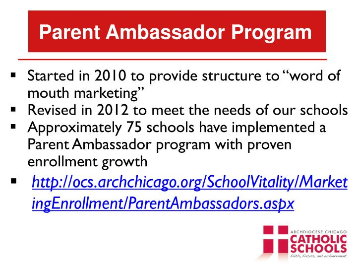 Parent Ambassador Program