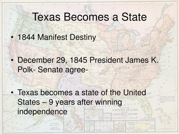 Texas Becomes a State