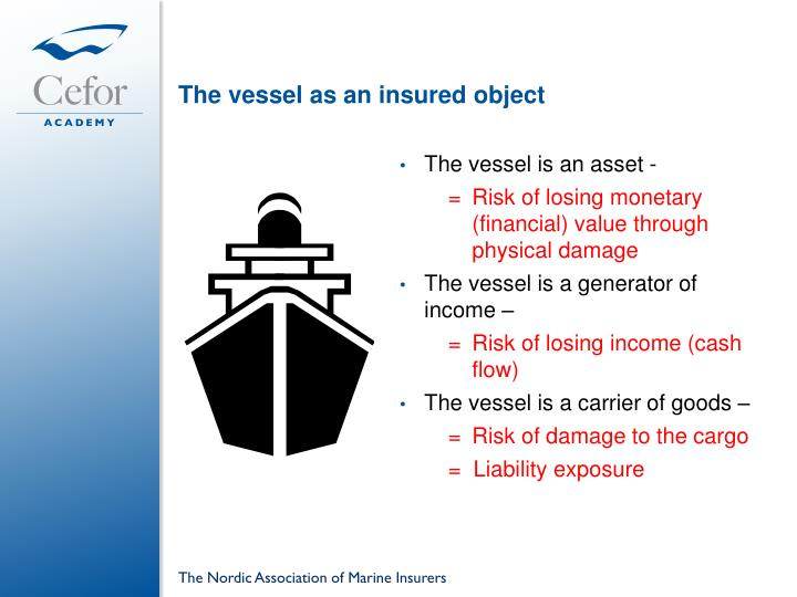 The vessel as an insured object