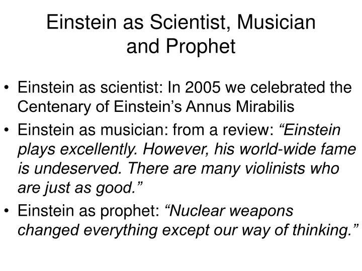 Einstein as Scientist, Musician