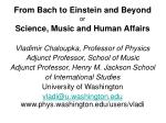 from bach to einstein and beyond or science music and human affairs