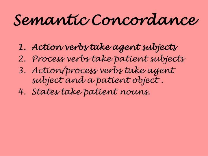 Semantic Concordance