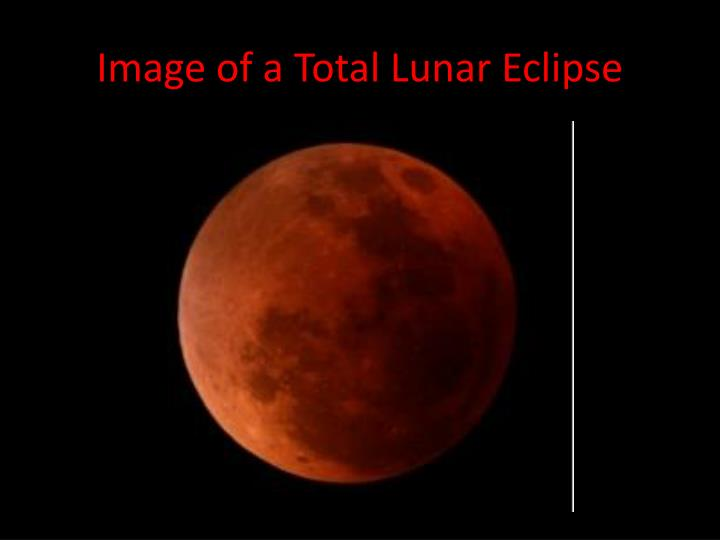 Image of a Total Lunar Eclipse