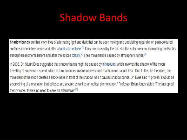 Shadow Bands