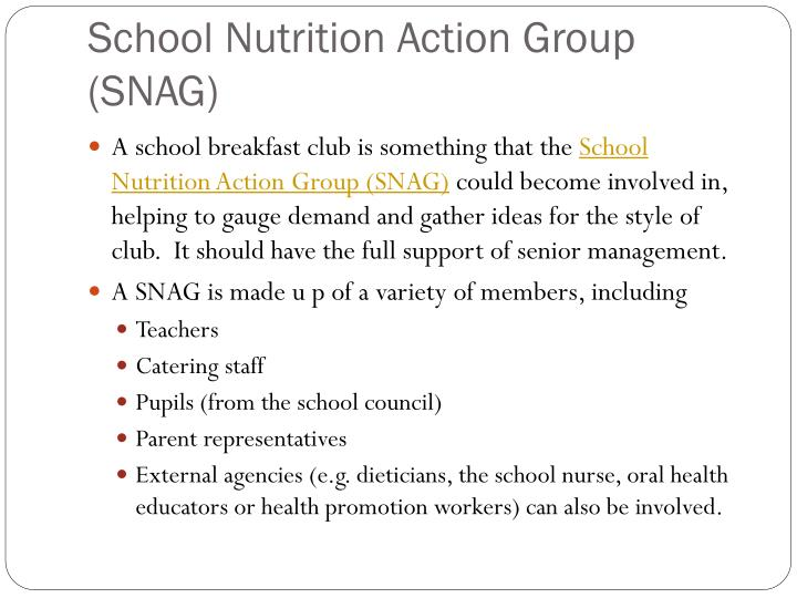 School nutrition action group snag