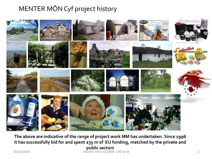 MENTER MÔN Cyf project history