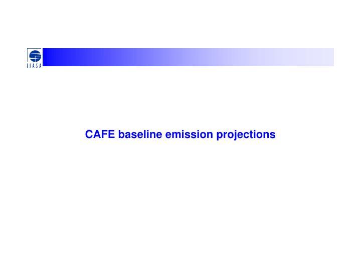 CAFE baseline emission projections