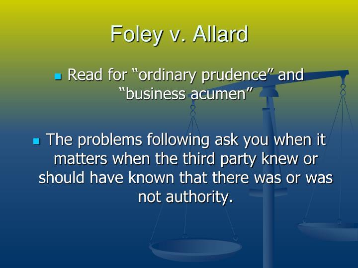 Foley v. Allard