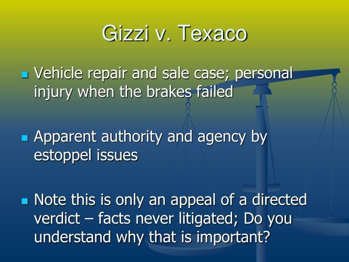 Gizzi v. Texaco