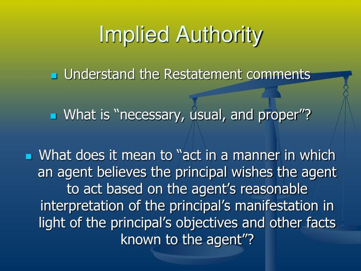 Implied Authority
