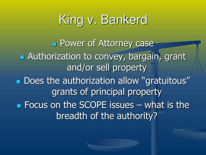 King v. Bankerd