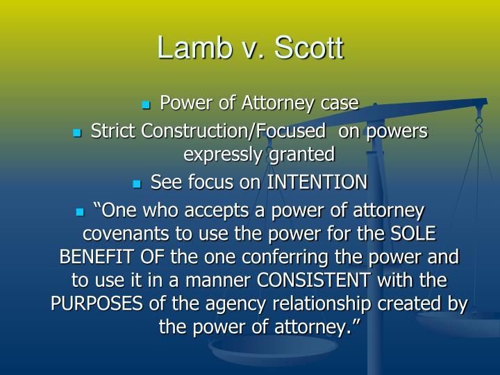 Lamb v. Scott