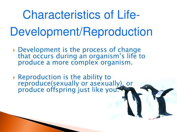 Characteristics of Life-